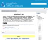Algebra 2 (A)