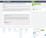 Common Sense Media Lab- Social Media Test Drive