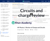 AP Physics 1 Review of Charge and Circuits