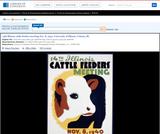 WPA Posters: 15th Illinois Cattle Feeders Meeting Nov. 8, 1940, University of Illinois, Urbana, Ill.