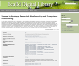 Issues in Ecology, Issue 04: Biodiversity and Ecosystem Functioning