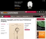 Patents, Copyrights, and the Law of Intellectual Property, Spring 2013