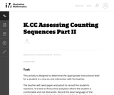 Assessing Counting Sequences Part II