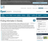 FInding Information in Society