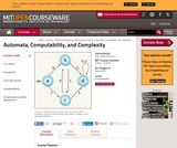 Automata, Computability, and Complexity, Spring 2011