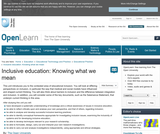 Inclusive Education: Knowing What We Mean