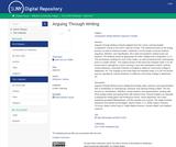 Arguing Through Writing