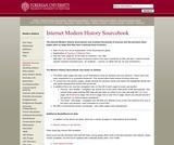 Internet Modern History Sourcebook