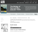 The Bridge of San Luis Rey and Our Town by Thornton Wilder - Audio Guide