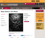 Major Authors: John Milton, Spring 2008