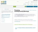 Teaming: Leading Family Meetings