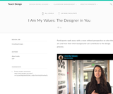 Teach Design : I Am My Values: The Designer in You