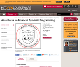 Adventures in Advanced Symbolic Programming, Spring 2009