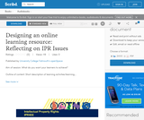Designing an online learning resource: Reflecting on IPR Issues