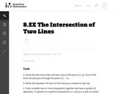 8.EE The Intersection of Two Lines