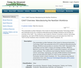 CAAT Overview: Manufacturing the NextGen Workforce