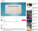 Developing an Attention Getter for a Speech (video tutorial)