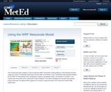 Using the WRF Mesoscale Model