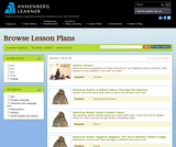 Annenberg Lesson Plans