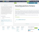 Political Philosophy & Justice: The Options