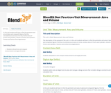 BlendEd Best Practices Unit Measurement- Area and Volume
