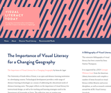 The Importance of Visual Literacy for a Changing Geography – Visual Literacy Today