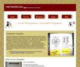 Active Participation: Using Math Templates