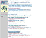 New England Writings about Civics