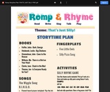 Romp & Rhyme Storytime Lesson Plan: That's Just Silly!