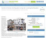 Earthquakes Living Lab: Locating Earthquakes