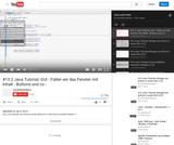 #13.2 Java Tutorial: GUI - Füllen wir das Fenster mit Inhalt - Buttons und co -