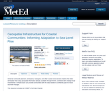 Geospatial Infrastructure for Coastal Communities: Informing Adaptation to Sea Level Rise