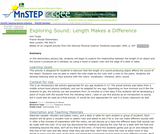 Exploring Sound: Length Makes a Difference