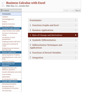 Business Calculus with Excel