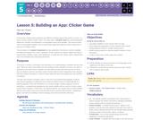 CS Principles 2019-2020 5.5: Building an App: Clicker Game