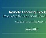 Remote Learning Excellence: Professional Learning Resources for Leaders in Remote Settings