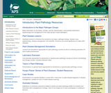 American Phytopathological Society-Education Center: Introductory Plant Pathology Resources