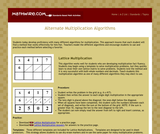 Alternate Multiplication Algorithms