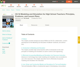Modeling and Simulation for High School Teachers: Principles, Problems, and Lesson Plans