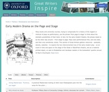Great Writers Inspire: Early Modern Drama on the Page and Stage