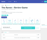 The Raven - Review Game Flashcards