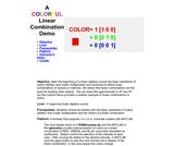 A COLORFUL Linear Combination Demo