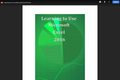 Learning How to Use Microsoft Excel 2016.pdf