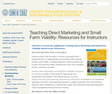 Teaching Direct Marketing and Small Farm Viability: Resources for Instructors