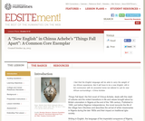 """A """"New English"""" in Chinua Achebe's """"Things Fall Apart"""": A Common Core Exemplar"""