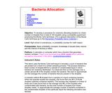 Bacteria Allocation Using Monte Carlo