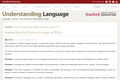 Instruction for Diverse Groups of ELLs