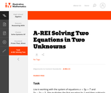 A-REI Solving Two Equations in Two Unknowns