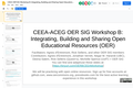 CEEA OER SIG Workshop B: Integrating, Building and Sharing Open Educational Resources (OER)