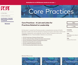 Core Practices - A List and Links for Practices Related to Leadership